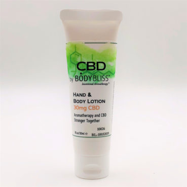 CBD Hand & Body Lotion with 30 mg CBD in a Traveltube